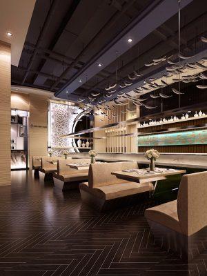 Croquis Design - Restaurant Bar - Amine - Vue1