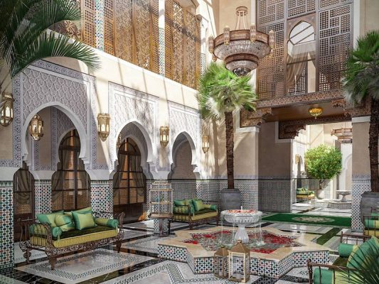 Croquis Design - Riad - Mr Salim - Vue interne