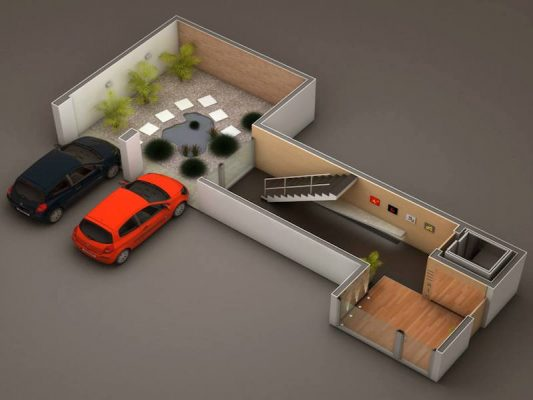 Croquis Design - Vue Axonométrique - Appartement 03