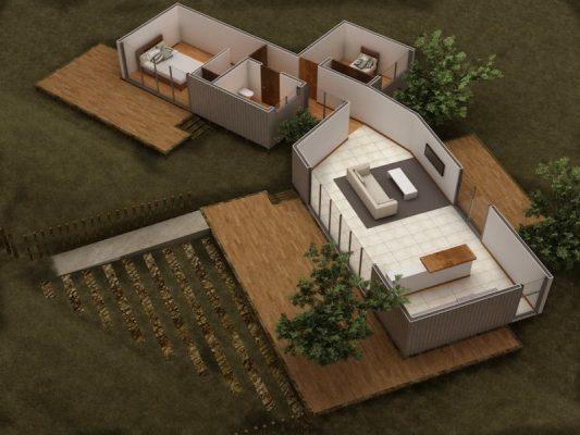 Croquis Design - Vue Axonométrique - Appartement 04