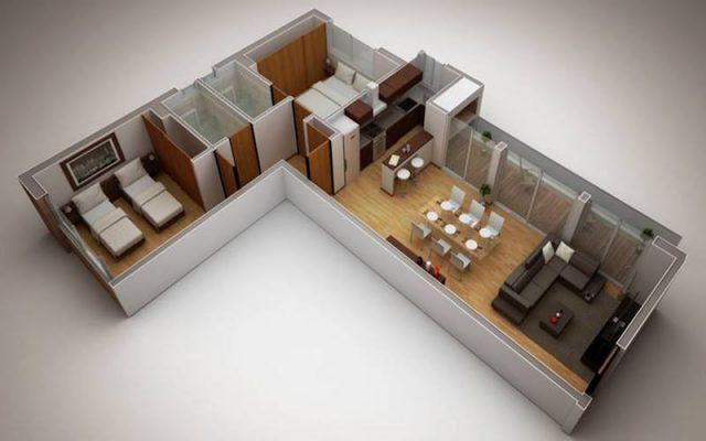 Croquis Design - Vue Axonométrique - Appartement 05