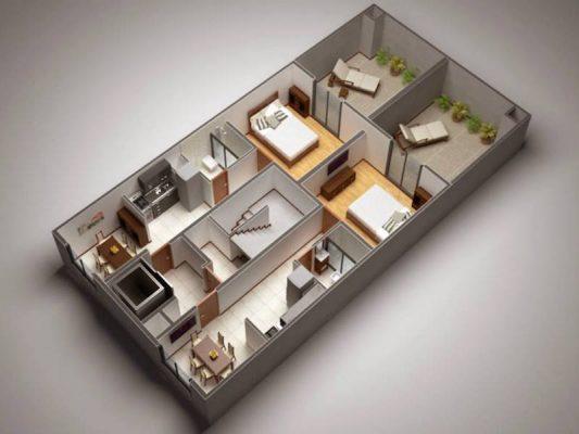 Croquis Design - Vue Axonométrique - Appartement 06