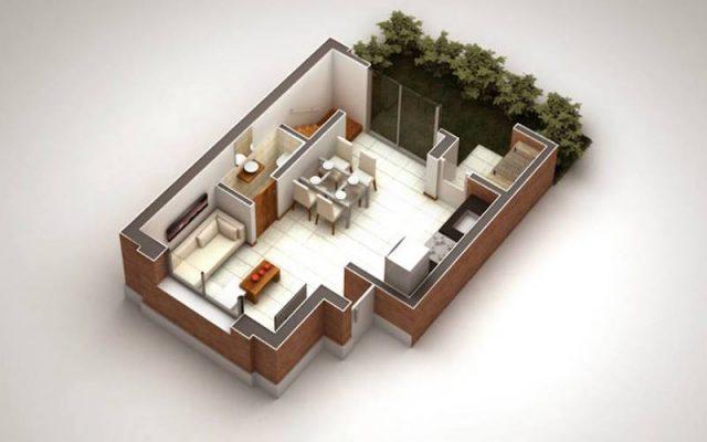 Croquis Design - Vue Axonométrique - Appartement 07